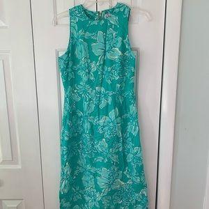 Lilly Pulitzer Silk Midi Dress Size 2